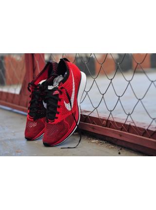 Nike Flyknit Racer Red Black