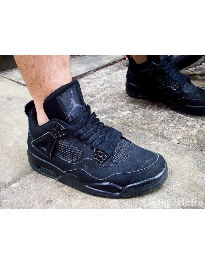 Nike Air Jordan 4 Retro Mens Shoes Black