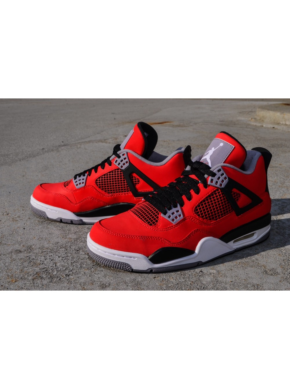 12fac1fa Nike Air Jordan Retro 4 IV RedBlackGrey